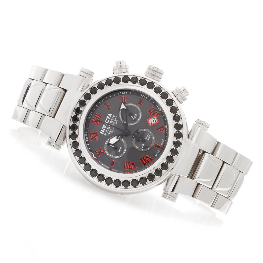620-371 - Invicta Reserve 47mm Subaqua Noma I Limited Edition Black Spinel Stainless Steel Bracelet Watch