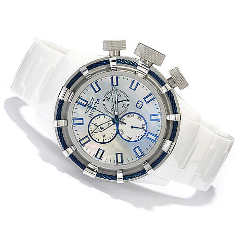 620-372 - Invicta Men's Bolt Sport Quartz Mother-of-Pearl Ceramic Bracelet Watch w/ 20-Slot Watch Box