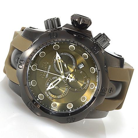 620-387 - Invicta Reserve 52mm Venom Monotone Swiss Made Quartz Chronograph Stainless Steel Strap Watch