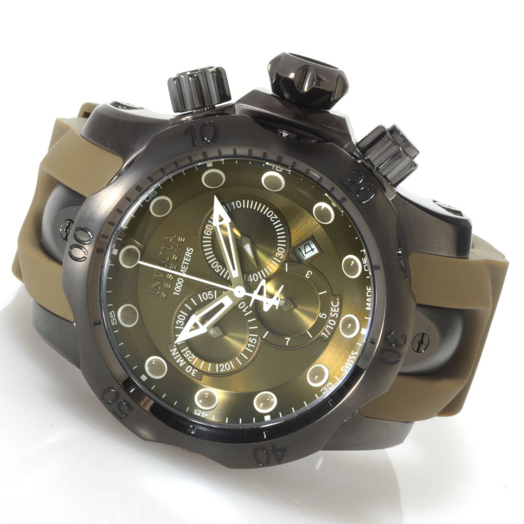 620-387 - Invicta Reserve Men's Venom Monotone Swiss Made Quartz Chronograph Stainless Steel Strap Watch