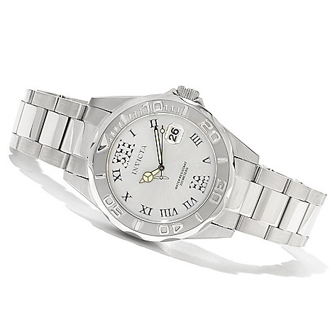 620-391 - Invicta Women's Pro Diver Quartz Stainless Steel Bracelet Watch w/ Three-Slot Travel Box