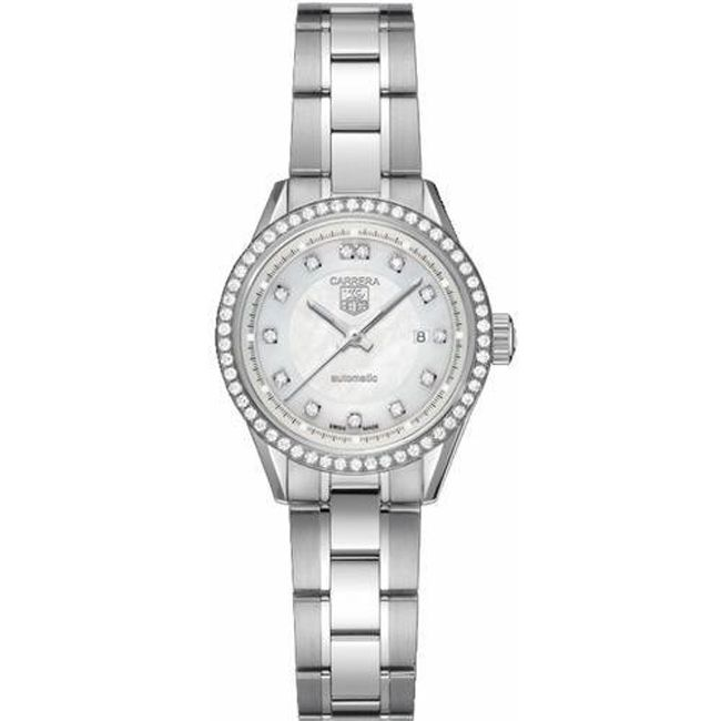 620-459 - TAG Heuer Women's Carrera Quartz Stainless Steel Bracelet Watch