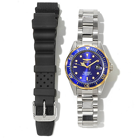 620-461 - Invicta Women's Pro Diver Quartz Stainless Steel Bracelet Watch w/ Extra Strap