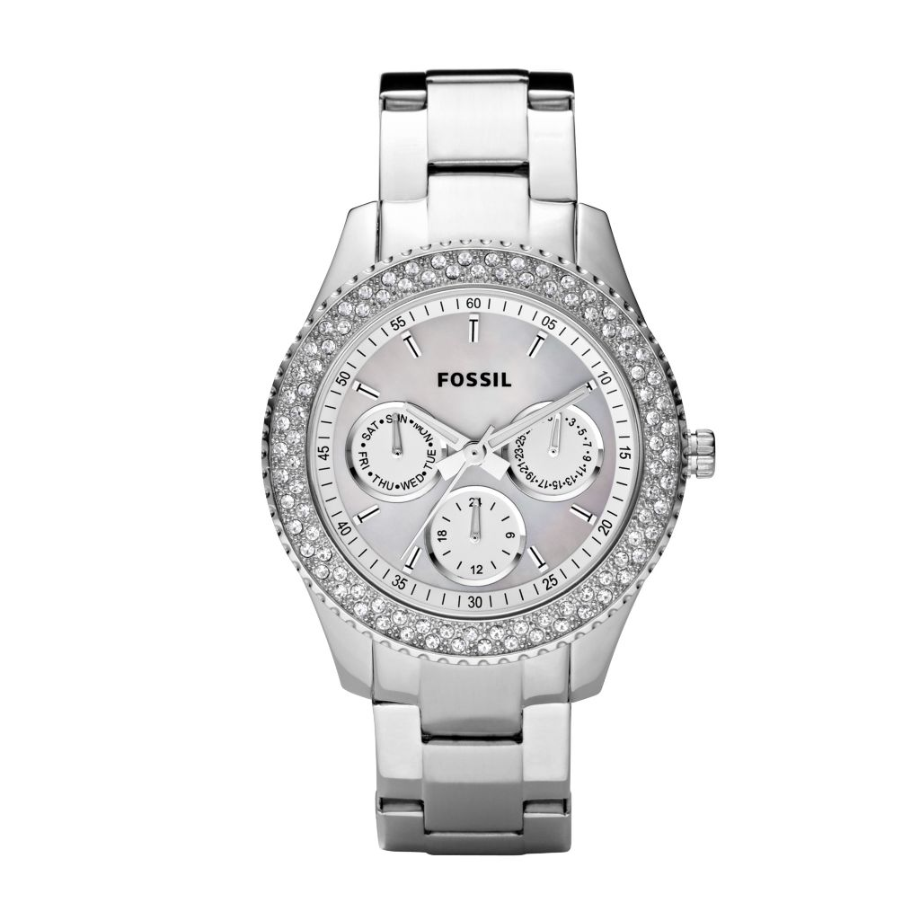 620-531 - Fossil Women's Stella Quartz Multifunction Silver-tone Stainless Steel Bracelet Watch