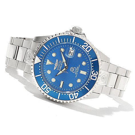 620-669 - Invicta 38mm or 47mm Grand Diver Automatic Stainless Steel Bracelet Watch w/ Eight-Slot Dive Case
