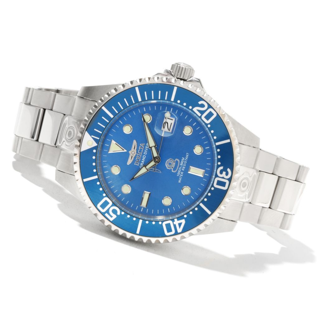 620-669 - Invicta Grand Diver Automatic Stainless Steel Bracelet Watch w/ Eight-Slot Dive Case