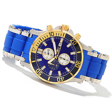 620-686 - Invicta 50mm Sea Spider Quartz Chronograph Polyurethane & Stainless Steel Bracelet Watch