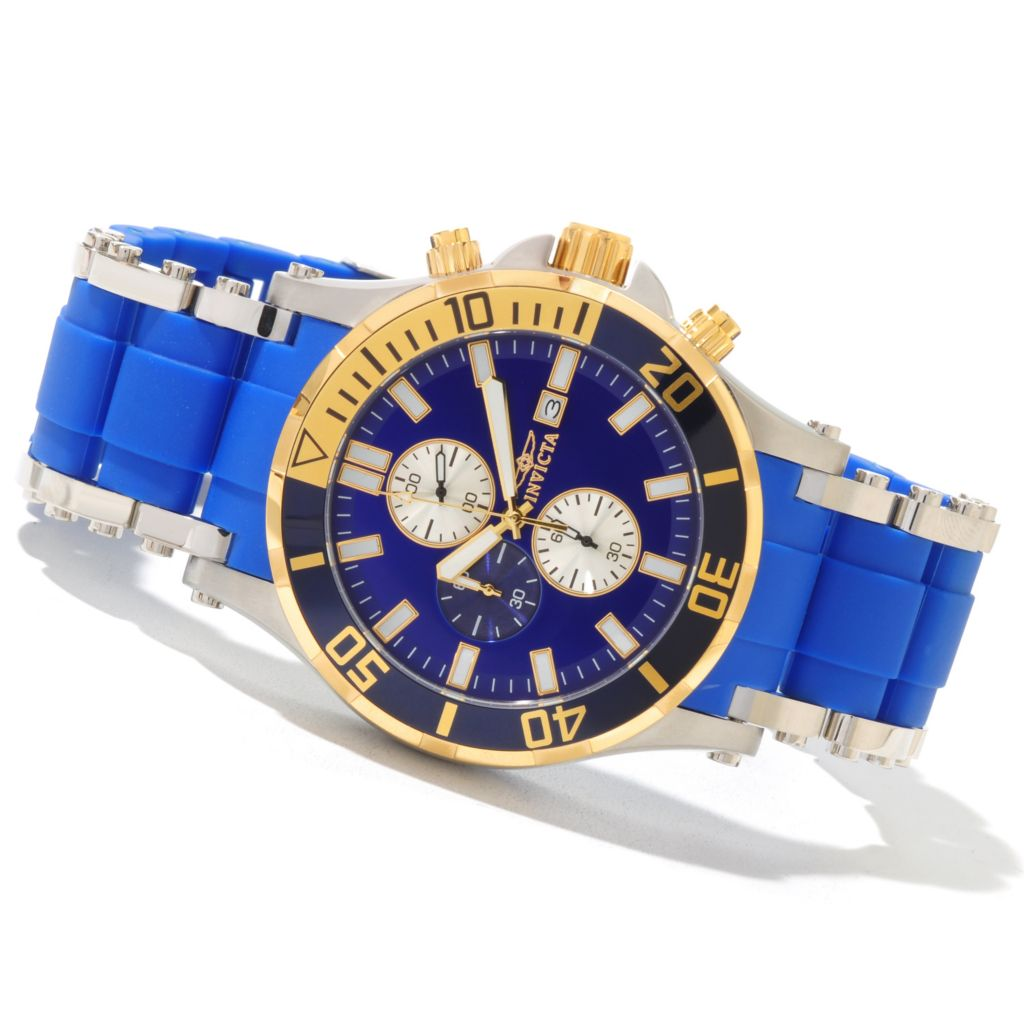 620-686 - Invicta Men's Sea Spider Quartz Chronograph Polyurethane & Stainless Steel Bracelet Watch