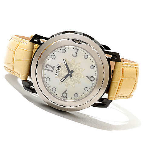 620-751 - Ritmo Mundo Women's Persepolis Limited Edition Swiss Made Quartz Leather Strap Watch