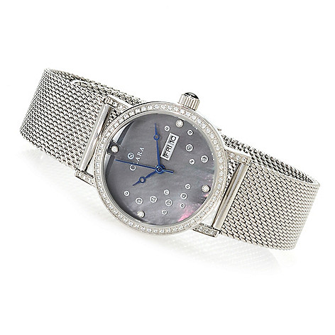 620-827 - Clara by CW Women's Quartz Bracelet Watch Made w/ Swarovski® Elements