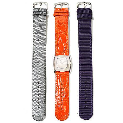 620-870 - Ferragamo Women's Vara Swiss Made Quartz Strap Watch w/ Two Extra Straps