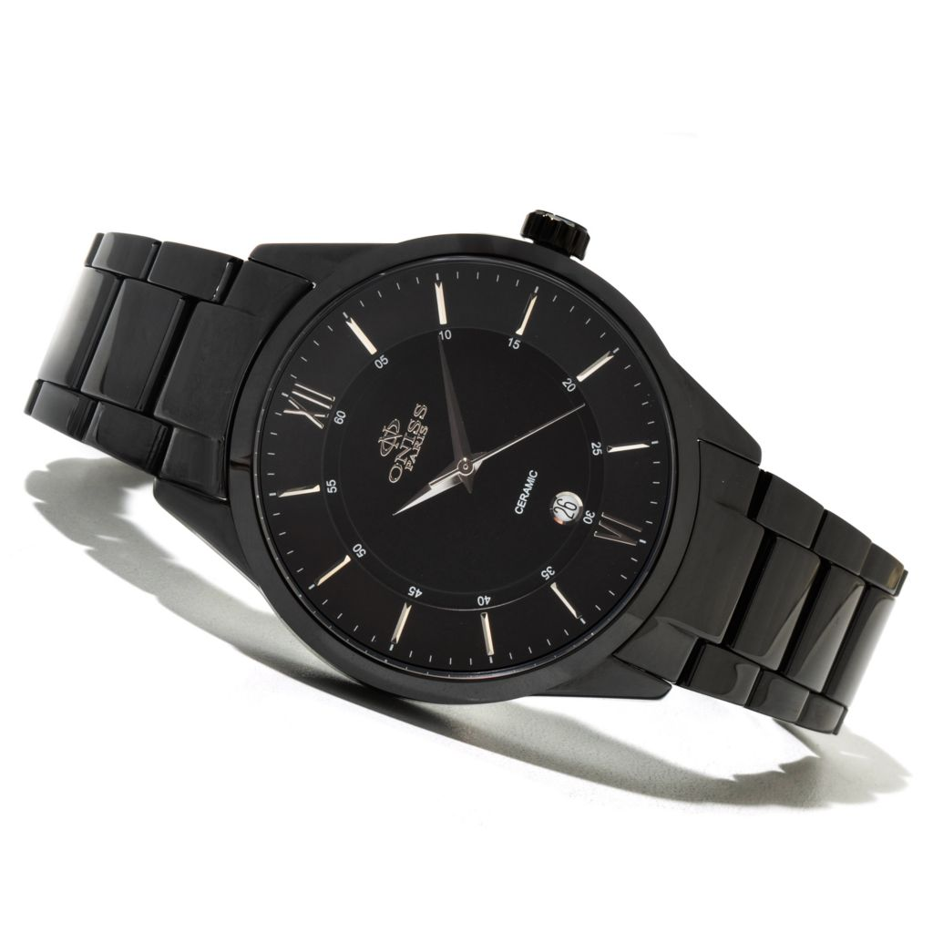 620-878 - Oniss Men's Ceramica Slim Quartz Ceramic Bracelet Watch