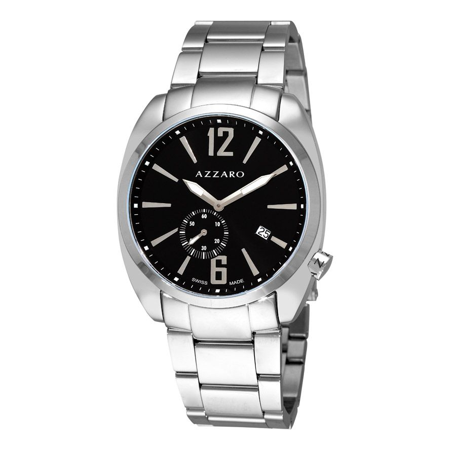 620-896 - Azzaro Men's Seventies Swiss Made Quartz Stainless Steel Bracelet Watch