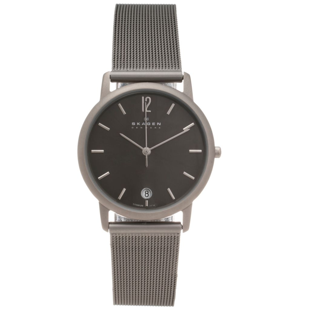 620-912 - Skagen Men's Quartz Titanium Mesh Bracelet Watch