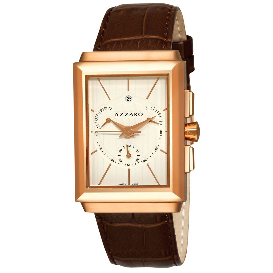 620-944 - Azzaro Men's Legend Swiss Made Quartz Leather Strap Watch