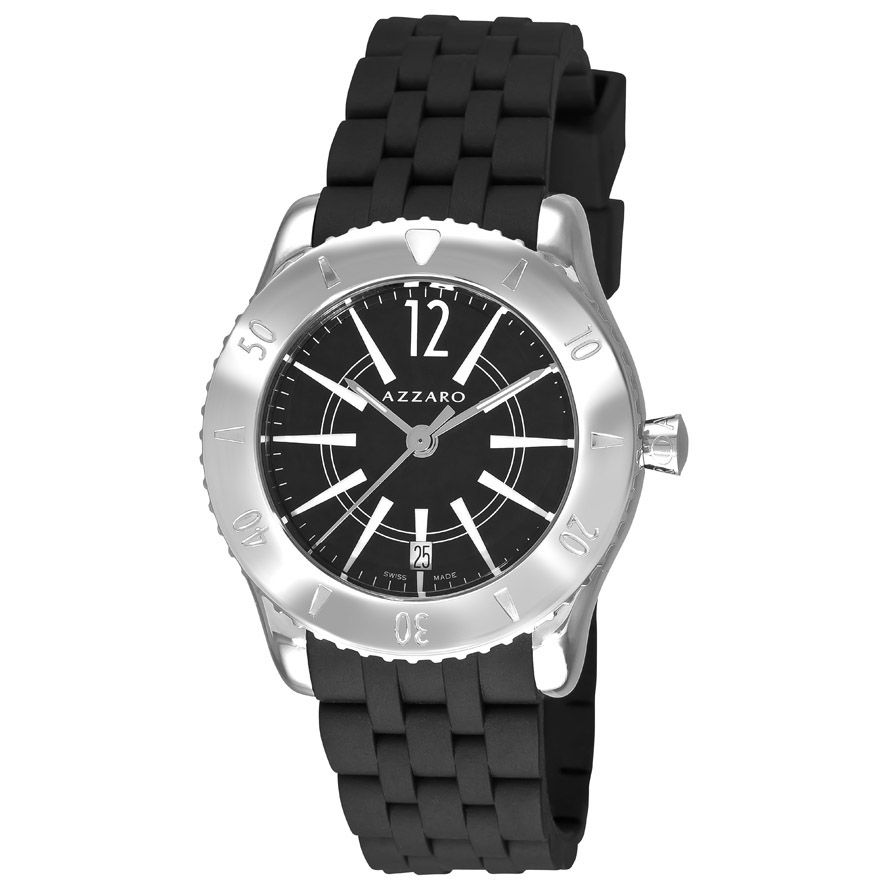 620-970 - Azzaro Men's Coastline Swiss Made Quartz Rubber Strap Watch