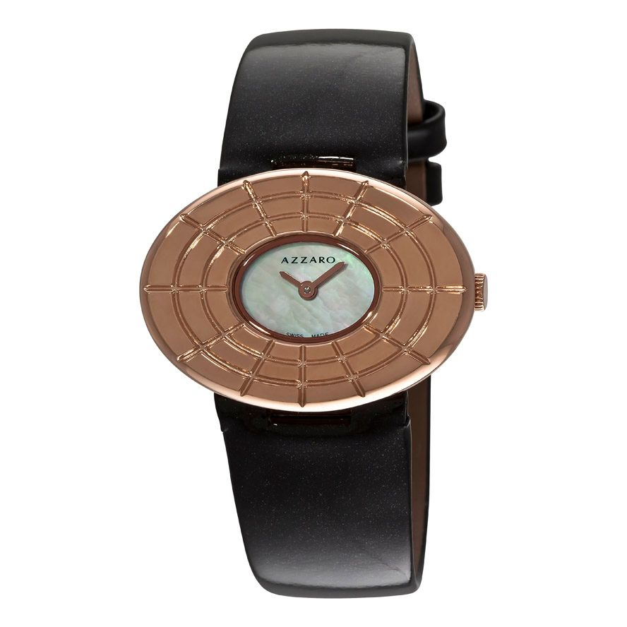 620-990 - Azzaro Women's Sparkling Swiss Made Quartz Leather Strap Watch