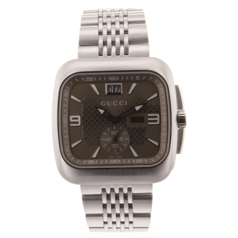 621-066 - Gucci Men's G-Coupe Swiss Made Quartz Stainless Steel Bracelet Watch