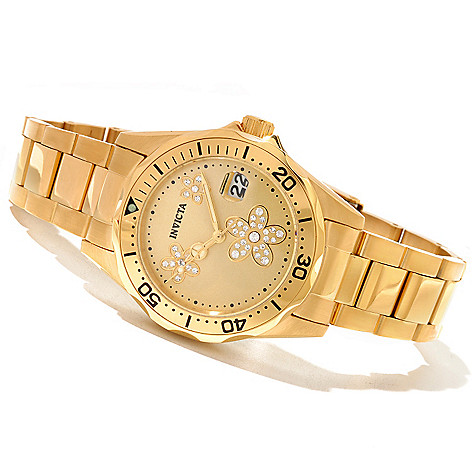 621-146 - Invicta Women's Angel Diver Quartz Stainless Steel Bracelet Watch w/ Collector's Box