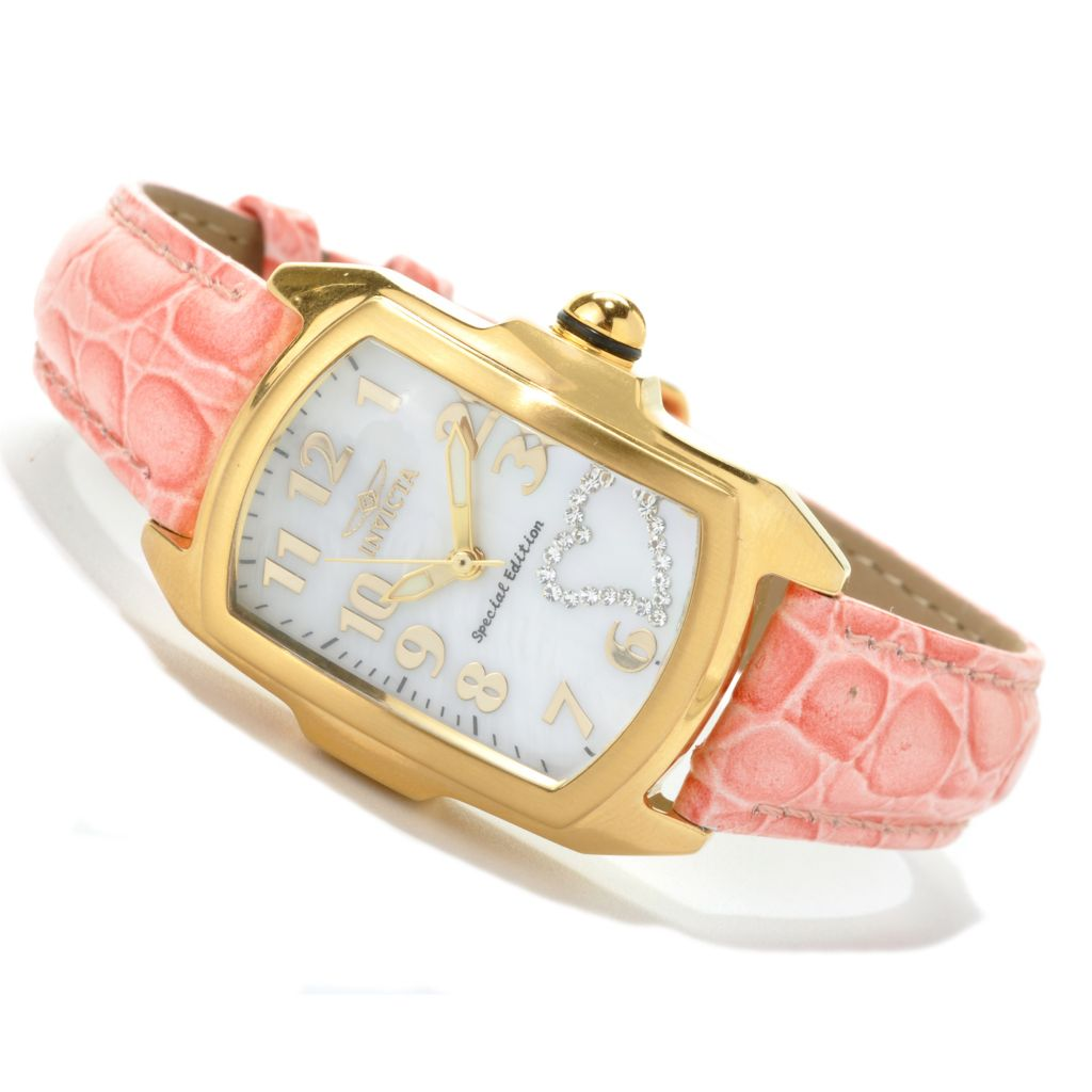 621-153 - Invicta Women's Baby Lupah Quartz Crystal Heart Watch w/ Seven-Piece Leather Strap Set