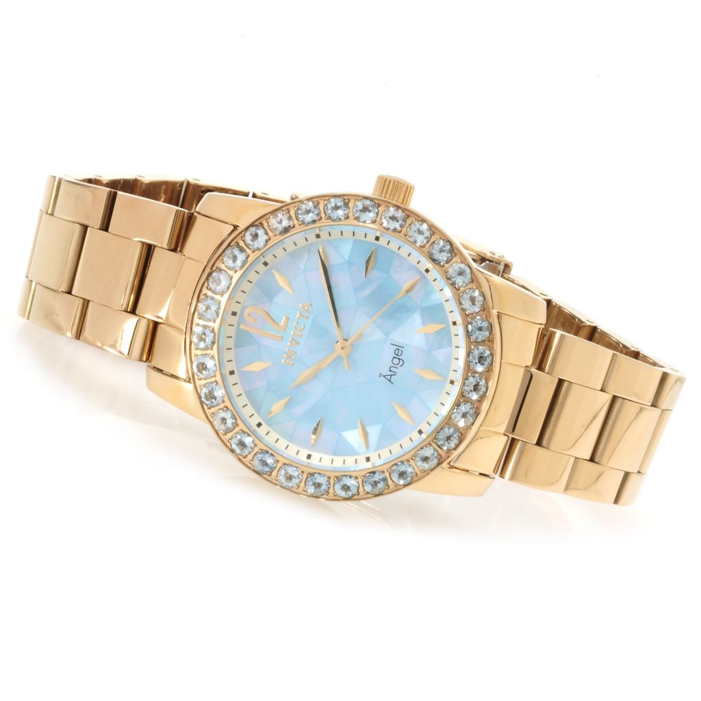 621-157 - Invicta Women's Angel Mosaic Limited Edition Gemstone Bezel Bracelet Watch