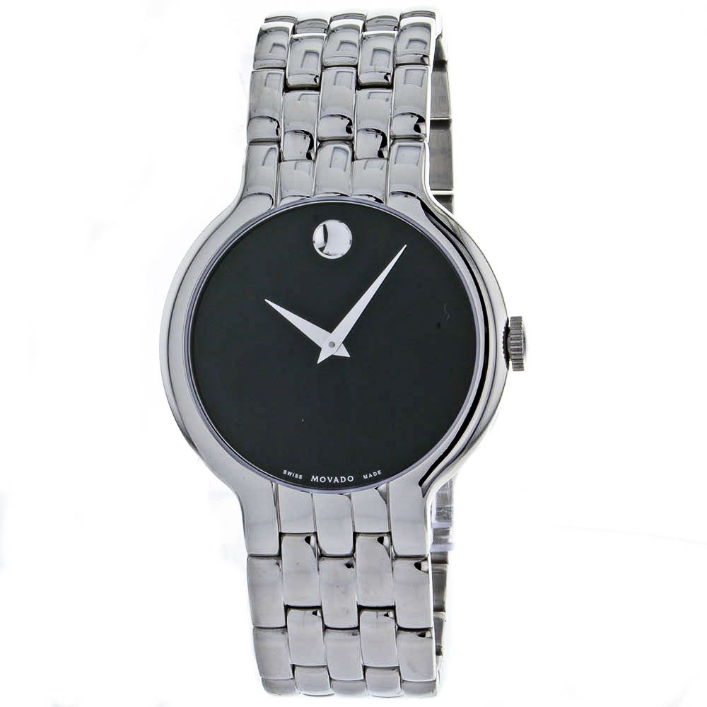 621-199 - Movado 43mm Classic Swiss Quartz Stainless Steel Bracelet Watch