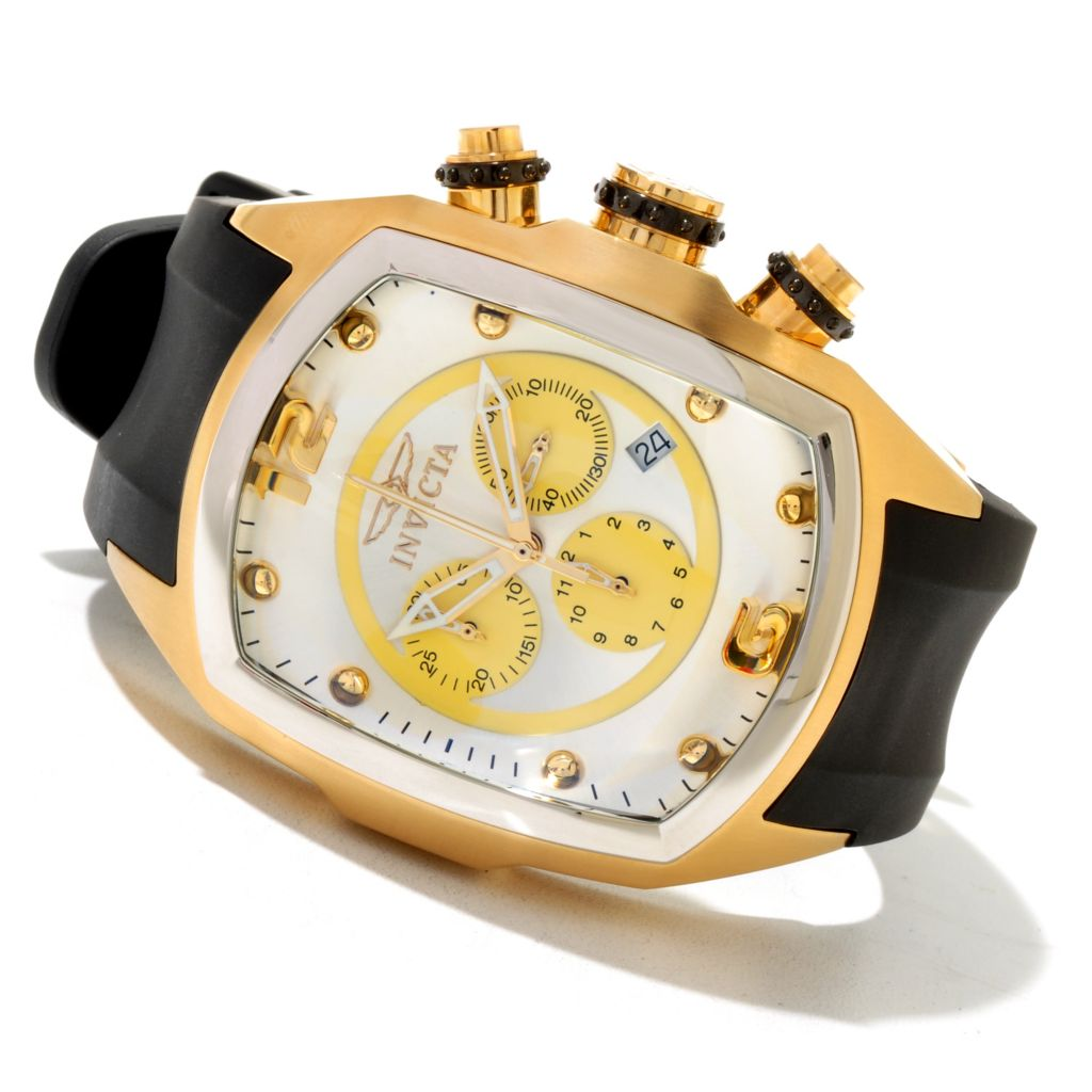 621-261 - Invicta Men's Lupah Revolution Quartz Chronograph Stainless Steel Polyurethane Strap Watch