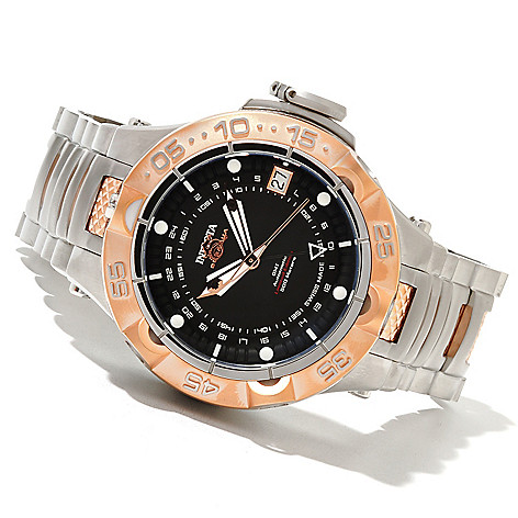 621-274 - Invicta 50mm Subaqua Noma V Limited Edition Automatic GMT Stainless Steel Bracelet Watch