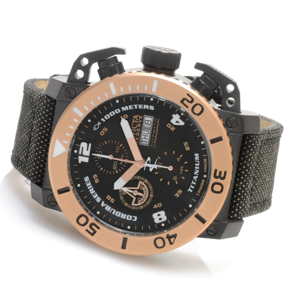 621-278 - Invicta Reserve 48mm Corduba Enforcer Valjoux 7750 Automatic Kevlar Strap Watch