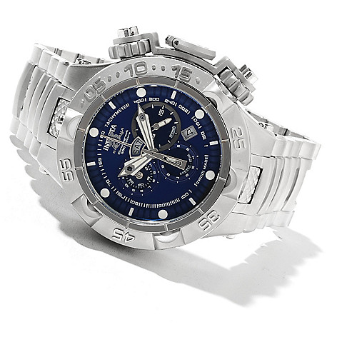 621-348 - Invicta 50mm Subaqua Noma V Swiss Made Quartz Chronograph Stainless Steel Bracelet Watch
