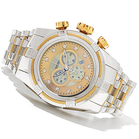 621-358 - Invicta Reserve 52mm Bolt Zeus Swiss Made Quartz Chronograph Bracelet Watch
