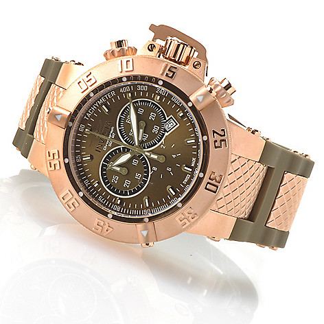 621-369 - Invicta Men's Subaqua Noma III Swiss Made Quartz Chronograph Silicone Strap Watch