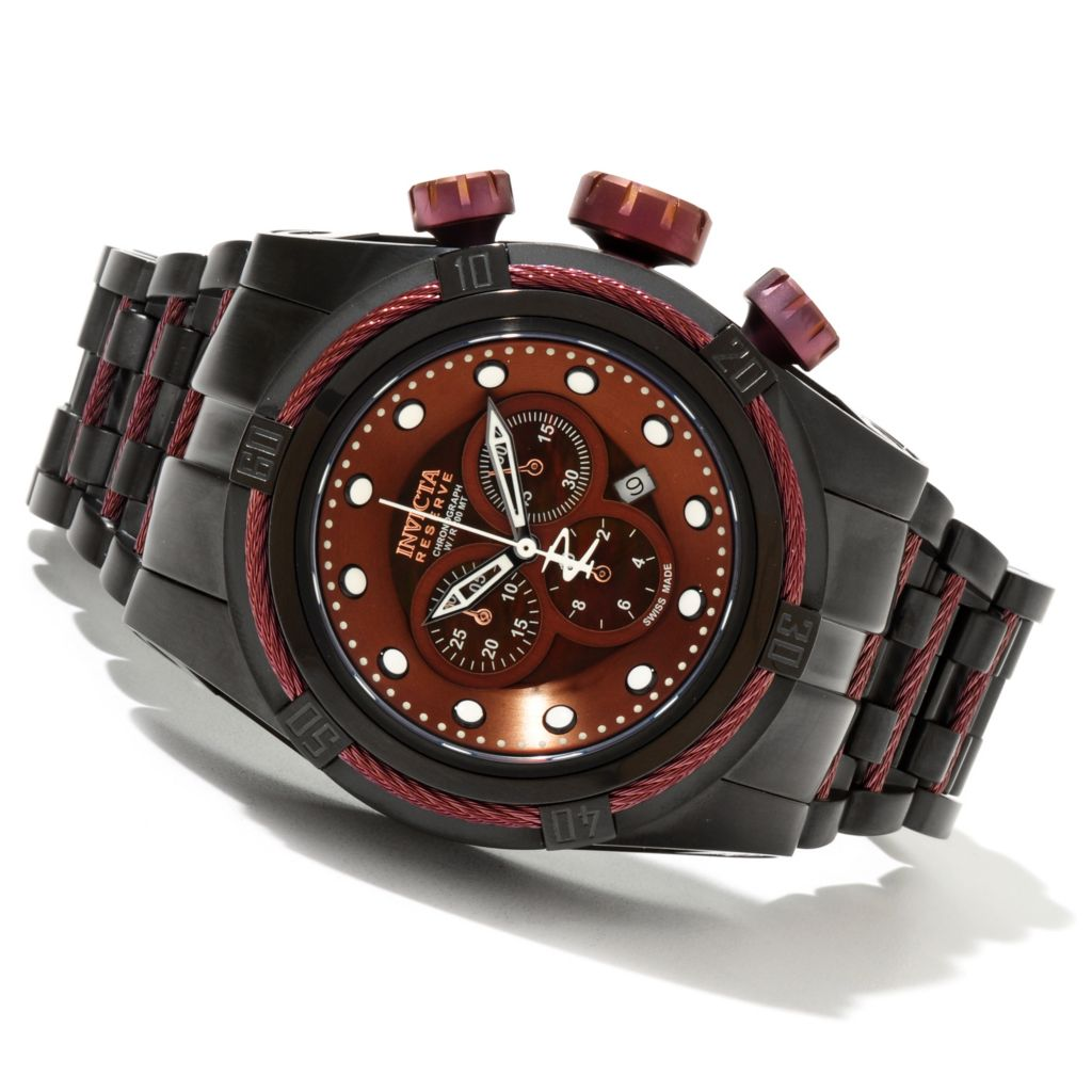 621-394 - Invicta Reserve Bolt Zeus Swiss Made Quartz Chronograph Stainless Steel Bracelet Watch