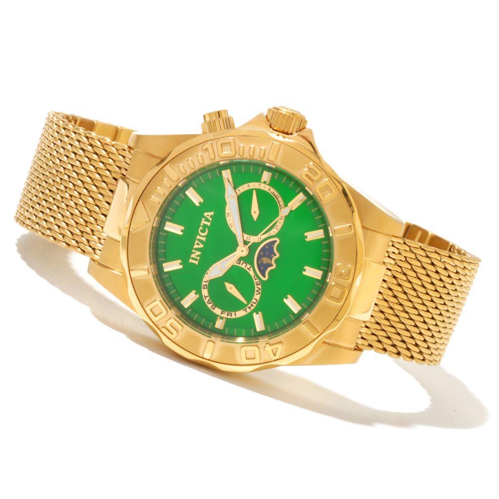 621-413 - Invicta Men's Sea Wizard Quartz Stainless Steel Mesh Bracelet Watch