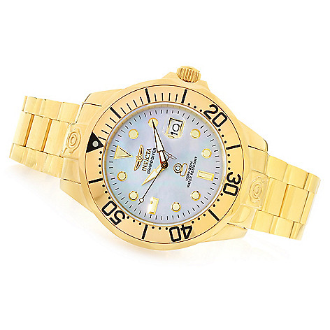 621-422 - Invicta 47mm Grand Diver Automatic Mother-of-Pearl Dial Stainless Steel Bracelet Watch