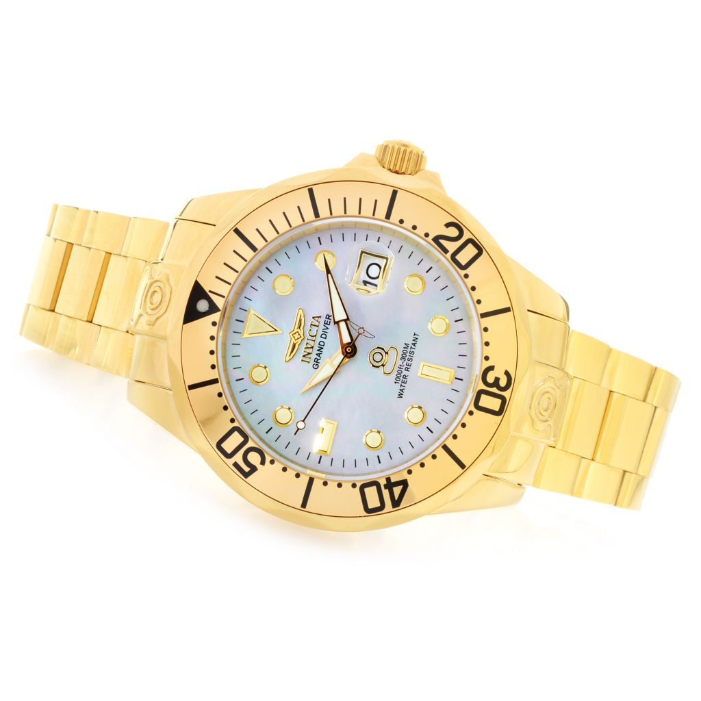 621-422 - Invicta Men's Grand Diver Automatic Mother-of-Pearl Dial Stainless Steel Bracelet Watch
