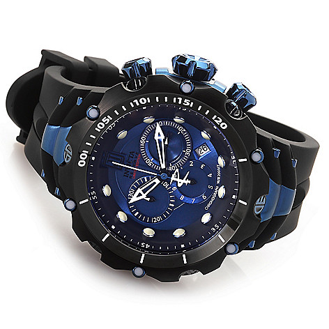 621-532 - Invicta Reserve 52mm Jason Taylor Venom Gen. II Rubber Strap Watch w/ Three-Slot Dive Case