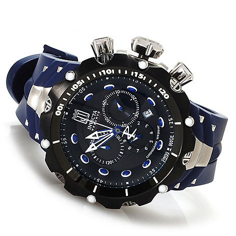 621-533 - Invicta Reserve 52mm Jason Taylor Venom Gen. II Rubber Strap Watch w/ Three-Slot Dive Case