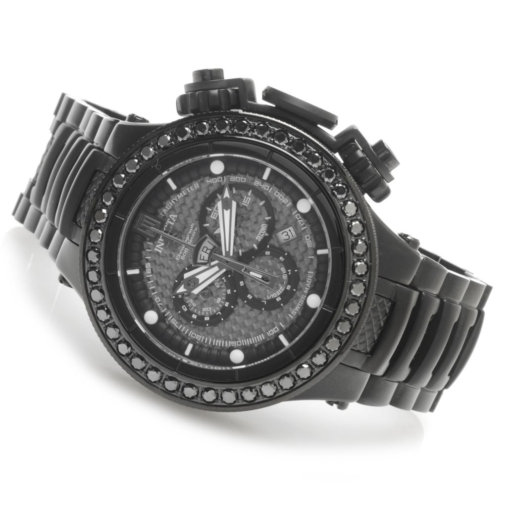 621-534 - Invicta Men's Jason Taylor Subaqua Noma V Diamond Bezel Watch w/ Three-Slot Dive Case