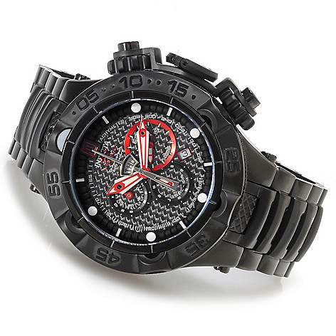 621-535 - Invicta 50mm Jason Taylor Subaqua Noma V Bracelet Watch w/ Three-Slot Dive Case
