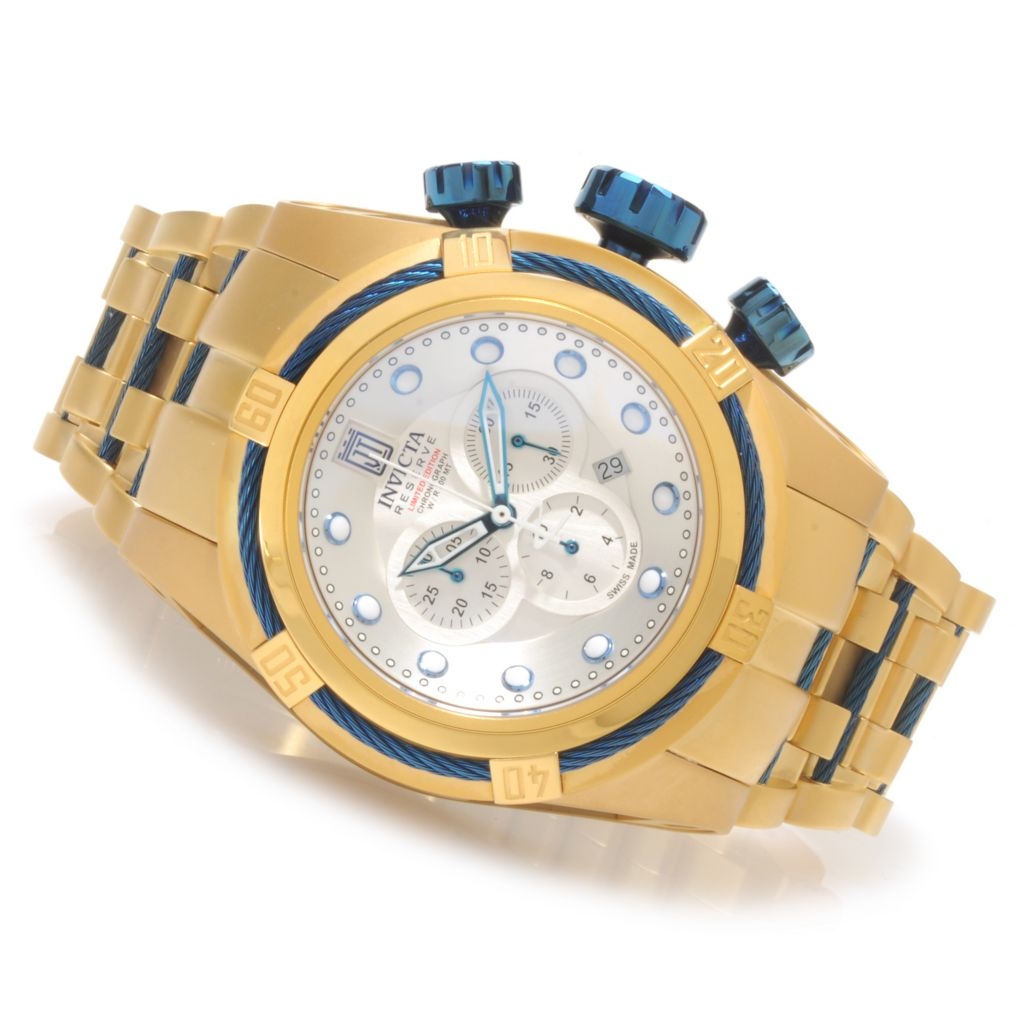 621-538 - Invicta Reserve 52mm Jason Taylor Bolt Zeus Limited Edition Bracelet Watch w/ Three-Slot Dive Case