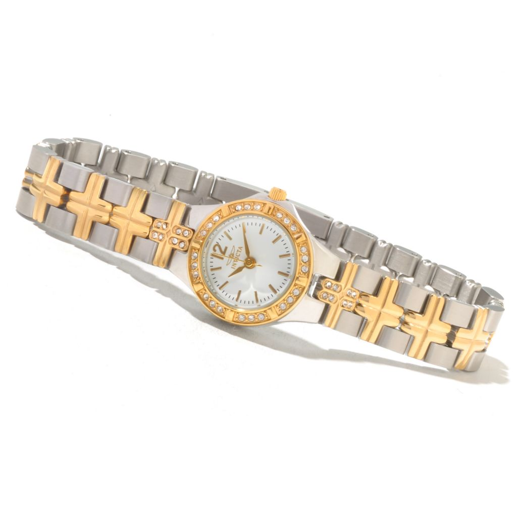 621-543 - Invicta Women's Wildflower Classique Quartz Crystal Accented Bracelet Watch w/ Collector's Box