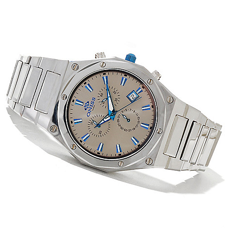 621-551 - Oniss Men's Ultra Quartz Chronograph Tungsten Bracelet Watch