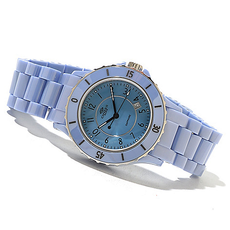 621-590 - Oniss Women's Ceramica Fuerte Quartz Mother-of-Pearl Ceramic Bracelet Watch