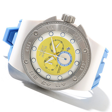 621-647 - Invicta Men's Akula Sport Quartz Chronograph Stainless Steel Silicone Strap Watch