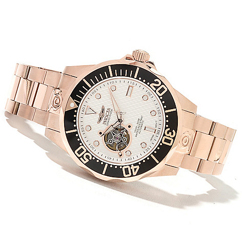 621-671 - Invicta Grand Diver Automatic Open Heart Stainless Steel Bracelet Watch