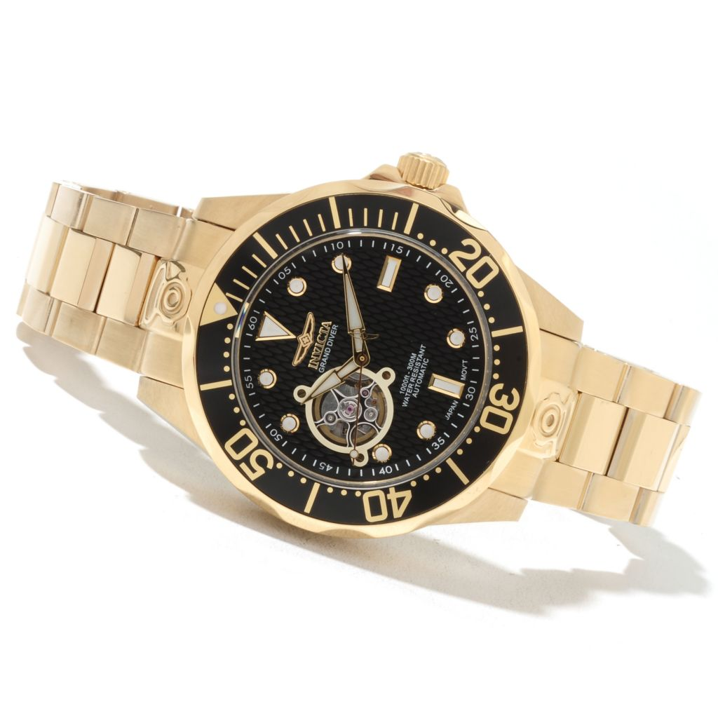 621-672 - Invicta Grand Diver Automatic Open Heart Stainless Steel Bracelet Watch
