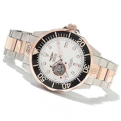 621-673 - Invicta Grand Diver Automatic Open Heart Stainless Steel Bracelet Watch
