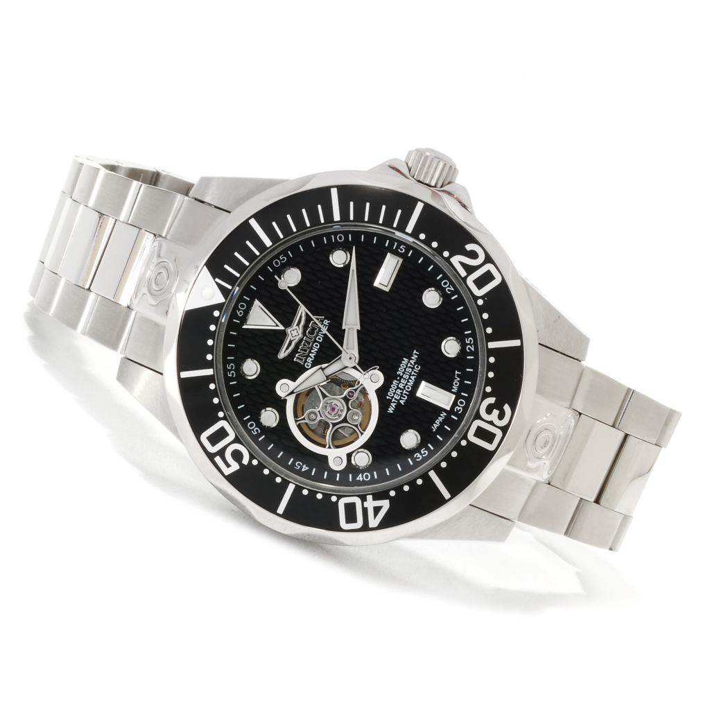 621-675 - Invicta Grand Diver Automatic Open Heart Stainless Steel Bracelet Watch