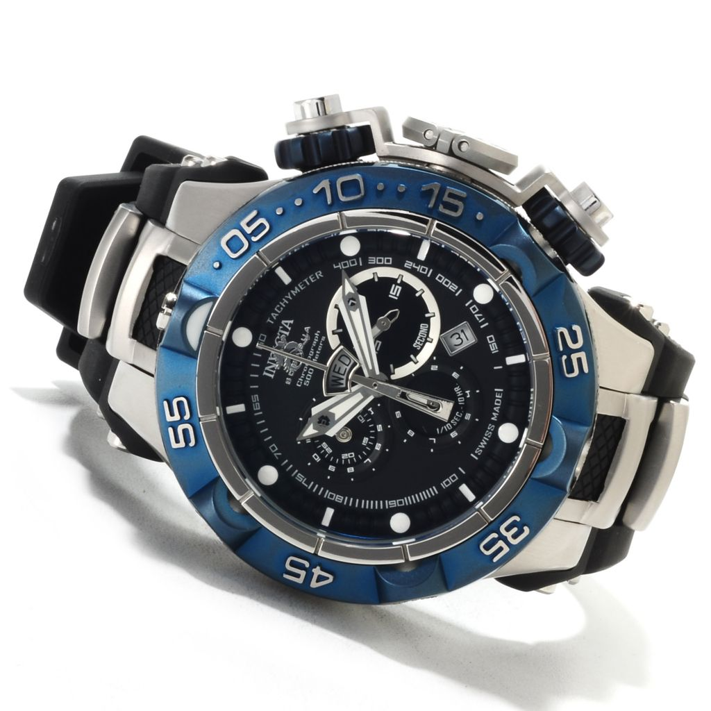 621-678 - Invicta 50mm Subaqua Noma V Swiss Made Quartz Chronograph Polyurethane Strap Watch
